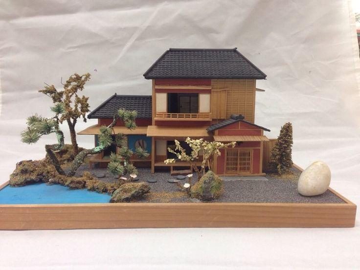 Vintage miniature japanese house diorama figure dioramas for Classic japanese house design