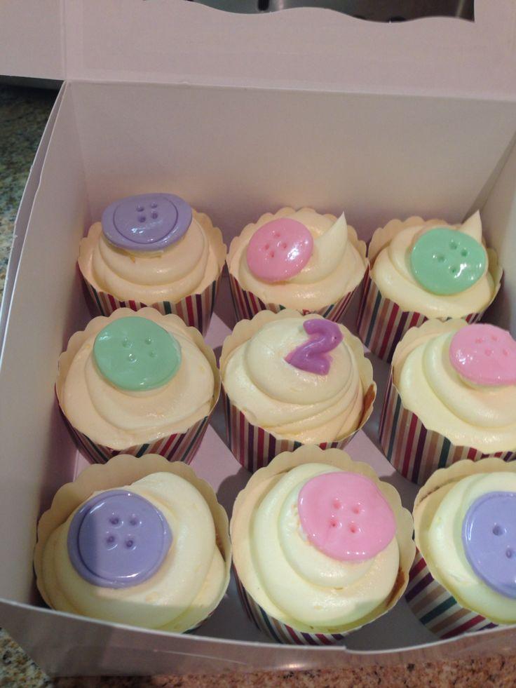 Cute as a button theme cupcakes