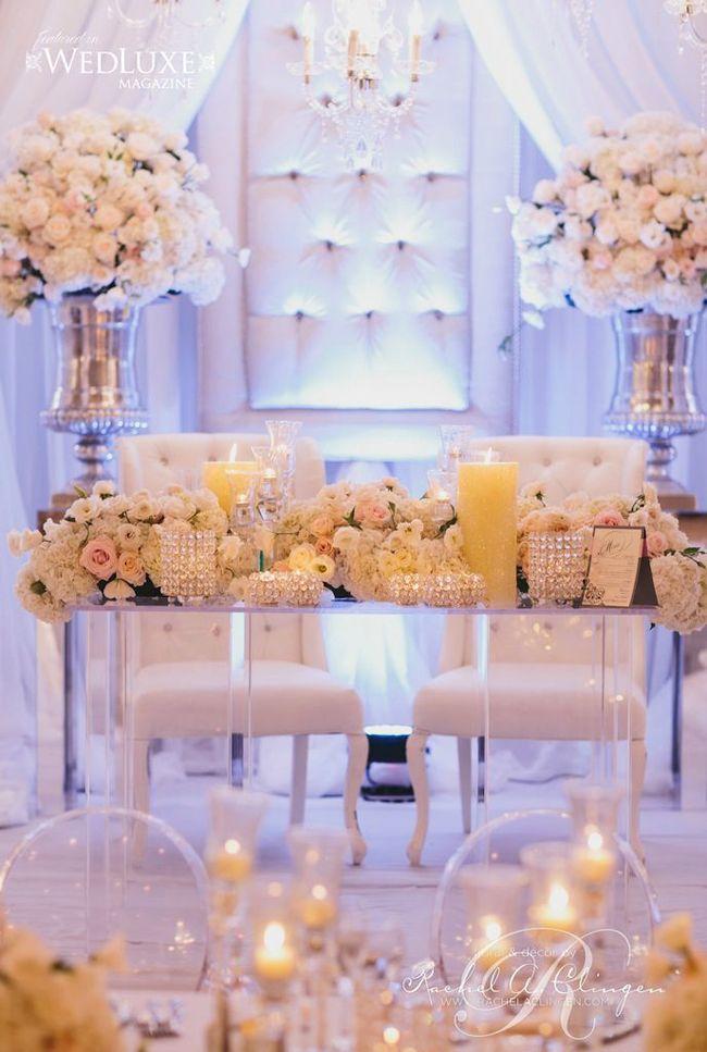 sweethearts table modern  | Sweetheart Table Ideas- Modern Luxury Decorations- Inspiration Rachel ...