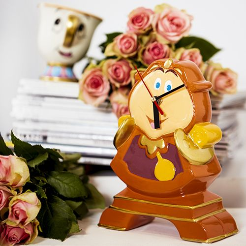 We love this Beauty and the Beast Coggsworth clock. Find exclusive Disney goodies at Primark
