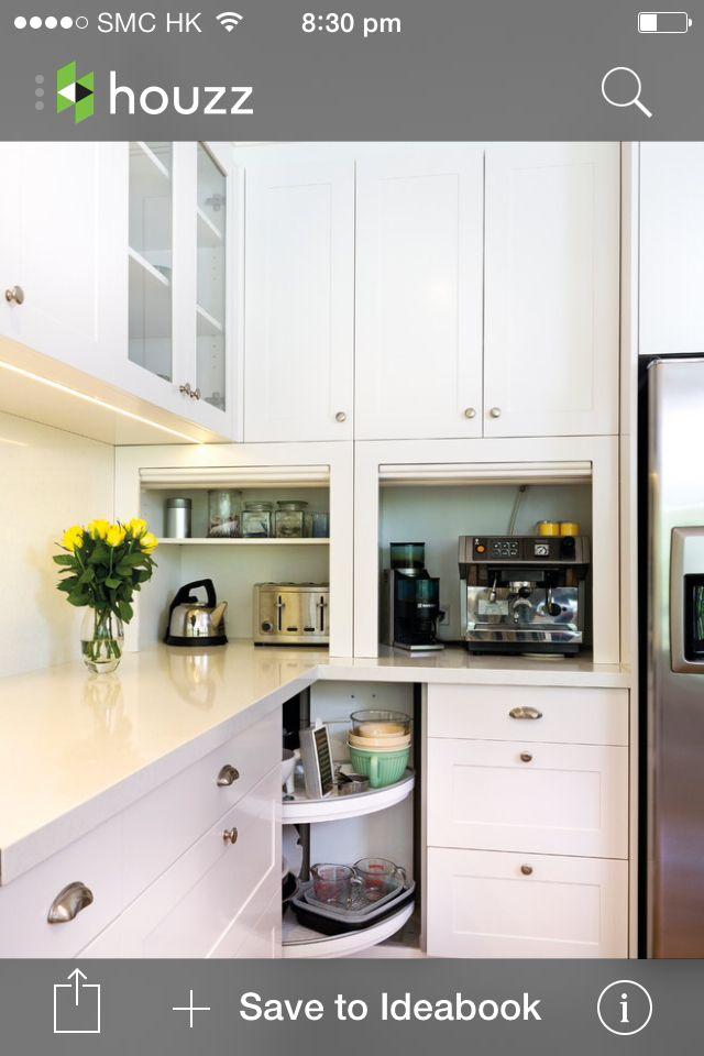 Kitchen - appliance storage