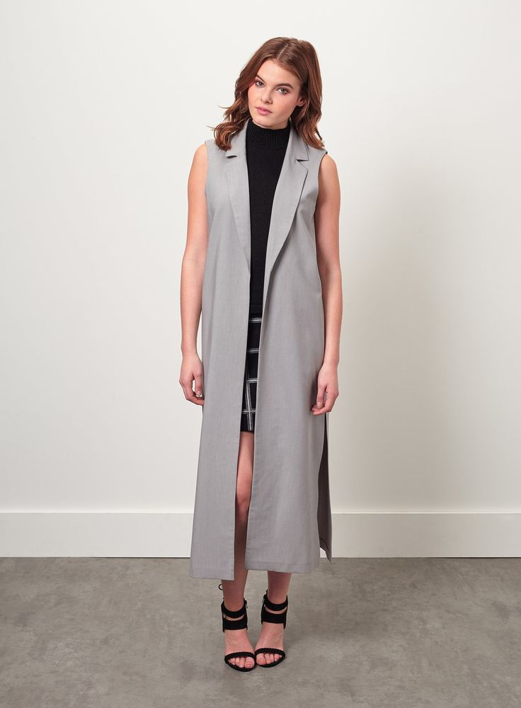 Maxi Sleeveless Jacket, Miss Selfridge, SALE £30.00