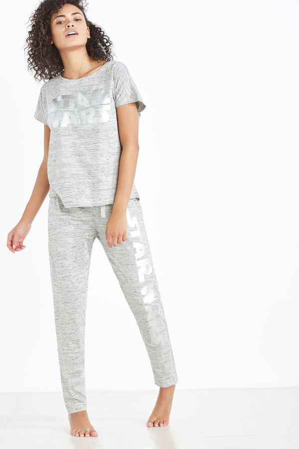 Womensecret Pijama de Star Wars plata gris