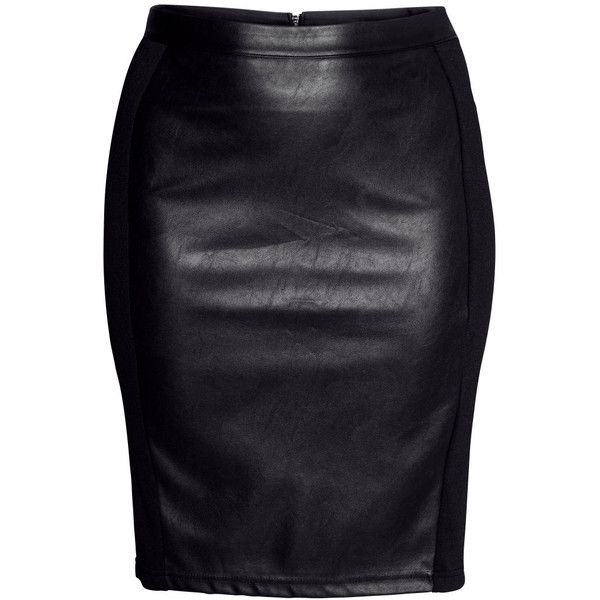 H&M+ Pencil skirt (€21) ❤ liked on Polyvore featuring skirts, bottoms, black, saias, plus size, h&m, black skirt, womens plus size skirts, pencil skirt and black pencil skirt