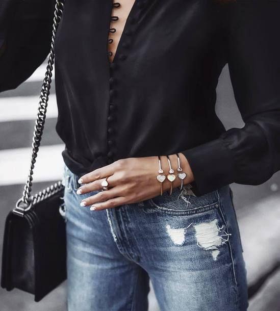 Jewels: tumblr cuff bracelet bracelets ring jewelry gold jewelry gold bracelet shirt black shirt