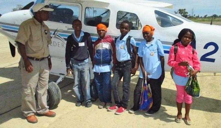 Ready to fly home... Campers at the 2013 Banoka Camp #Botswana