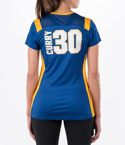 Women's Majestic Golden State Warriors NBA Stephen Curry Draft Shirt| Finish Line
