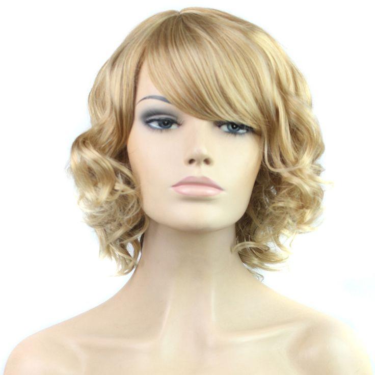 Ммаме_Высокое качество дешевый парик жаропрочного синтетического парики короткие волнистые вьющиеся волосы Wigs16 дюймов парики для женщин плюс бесплатная сеть волоскупить в магазине Charming HairstyleнаAliExpress