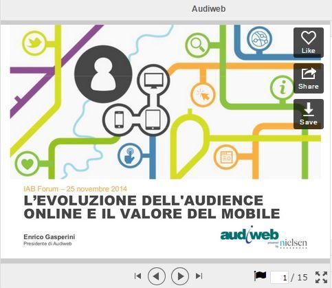 L'evoluzione dell'audience online e il valore del mobile - Audiweb @ IAB Forum 2014