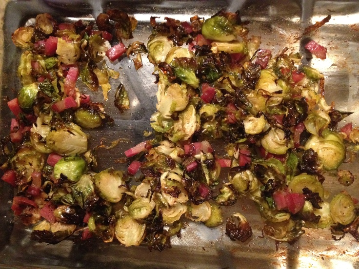 Roasted Brussels sprouts with pancetta | My Food | Pinterest