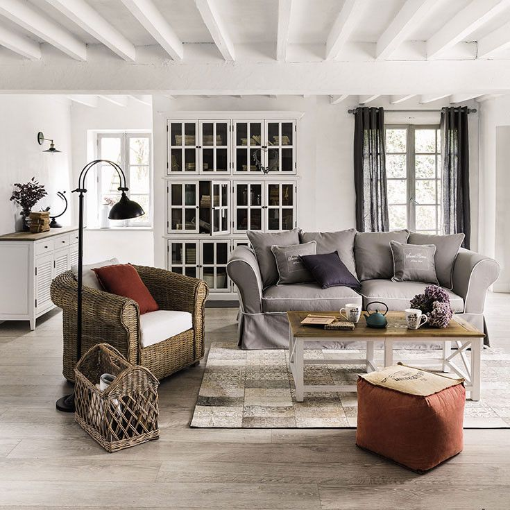 275 best images about white black and beige grey for Decoration maison de campagne