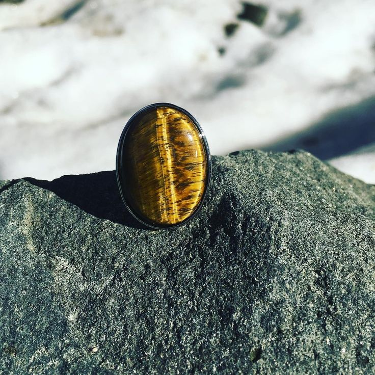 """3 Likes, 1 Comments - Magikal Mountains Jewelry (@magikalmountainsjewelry) on Instagram: """"Coming Soon.. Forest Collection #tigerseye #rings💍 #roar"""""""