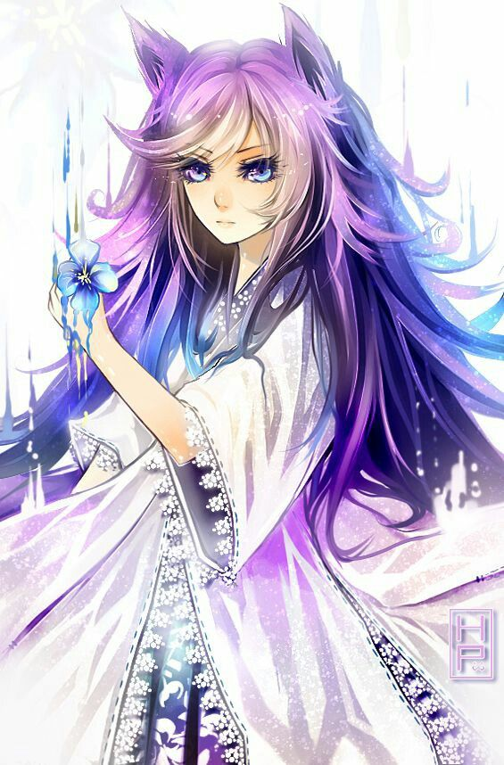 Shows you a small scroll my name is lily i am an animal - Wolf girl anime pictures ...