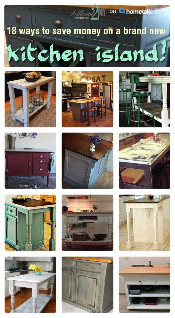 incredible ways to make your own kitchen island kitchen designs pinterest islands make. Black Bedroom Furniture Sets. Home Design Ideas