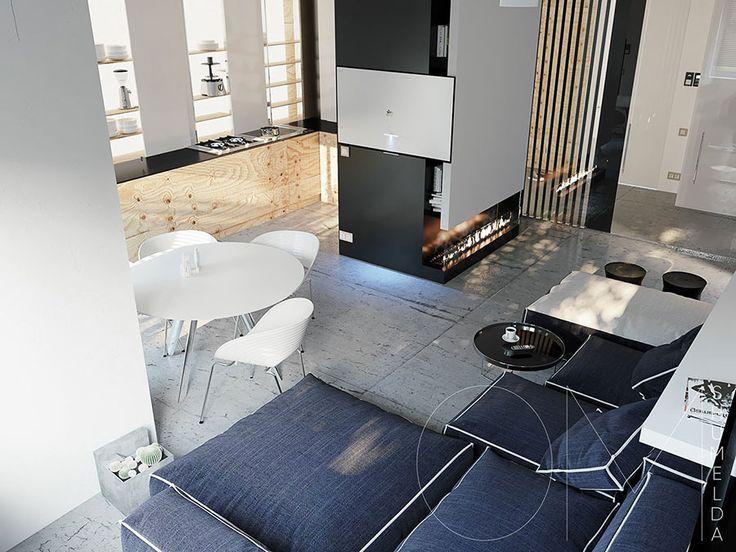 272 best piccoli appartamenti images on pinterest house for Piccoli appartamenti design