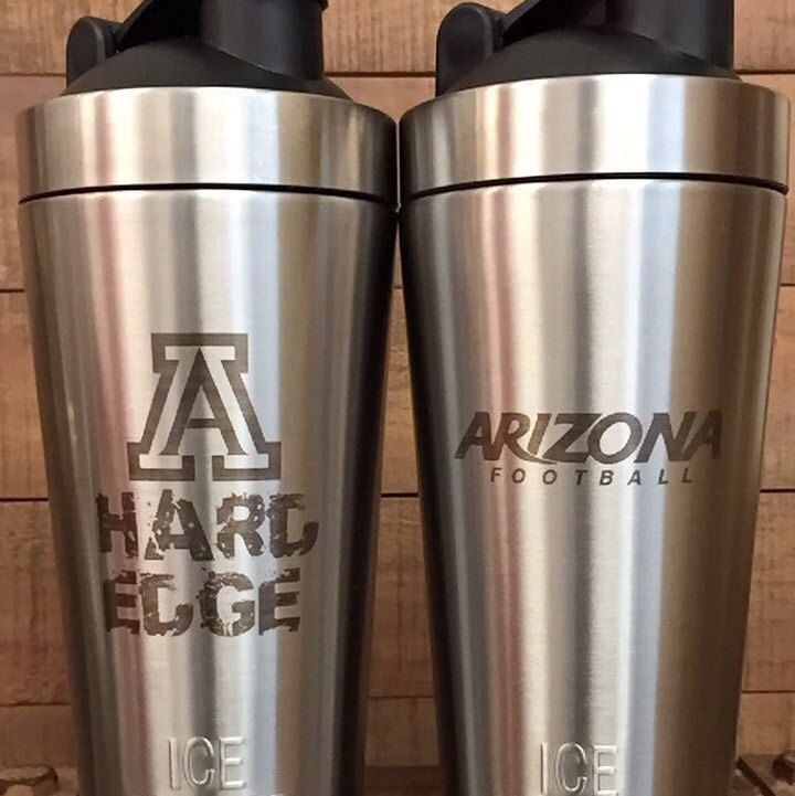 Personalized kitchen grade stainless steel ICE SHAKER! Vacuum insulated bottle holds ice for over 30 hours and does not absorb odor! Perfect birthday gift!  We can personalize with logos, names, quotes, or anything else you might want engraved!