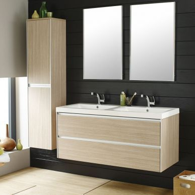 Hudson Reed Erin Light Oak Double Basin Furniture Pack 1200mm