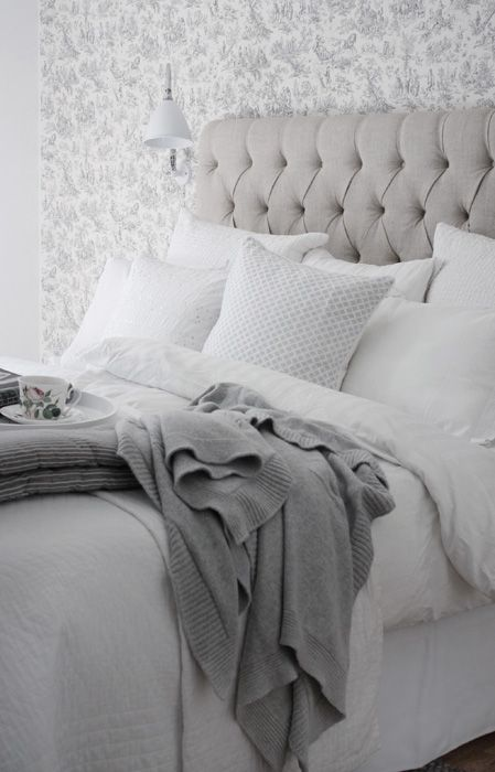 soft grey bedroom