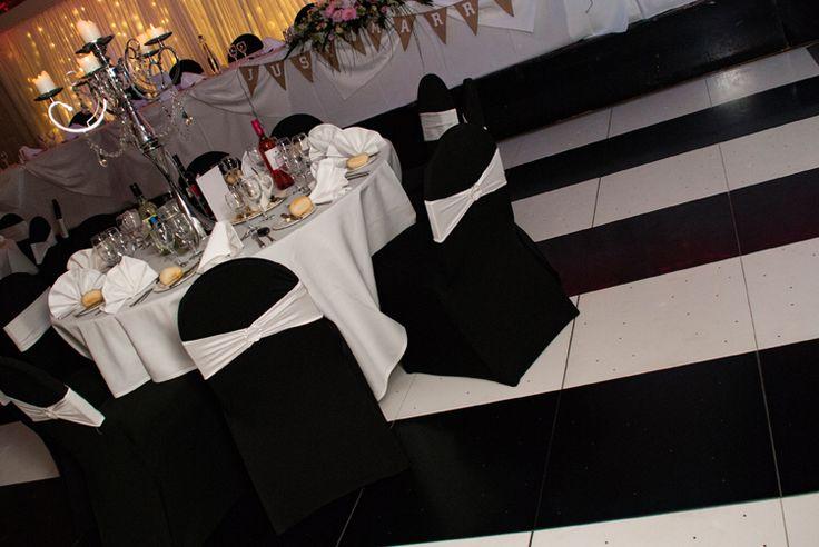 Black & white wedding by Swift www.swiftservices.biz