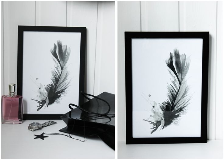 feather, ink illustration in black and grey made by me. Click in to my blog for more info.