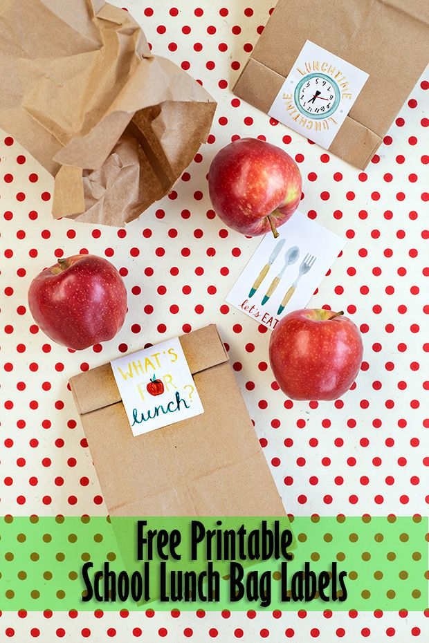 Print off these free lunch labels to add a fun surprise to your kiddos lunch…