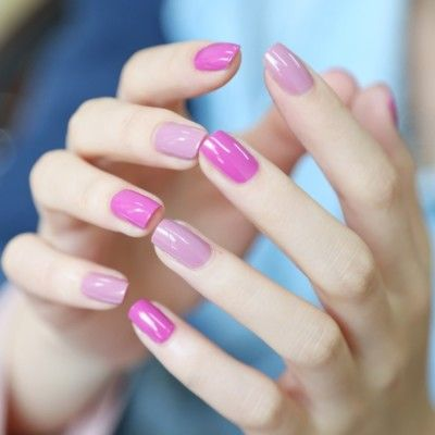 Perfectly pink nails.