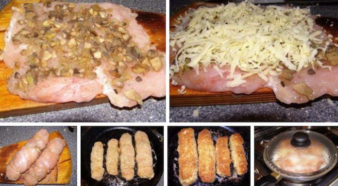 Куриные рулетики с грибами и сыром в сметанном соусе. Обсуждение на LiveInternet - Российский Сервис Онлайн-Дневников