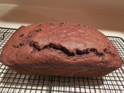 While this looks like a decadent chocolate pound cake, it's actually Chocolate Sweet Potato Banana Bread. It's tasty -- and a great way to use up those overripe bananas.