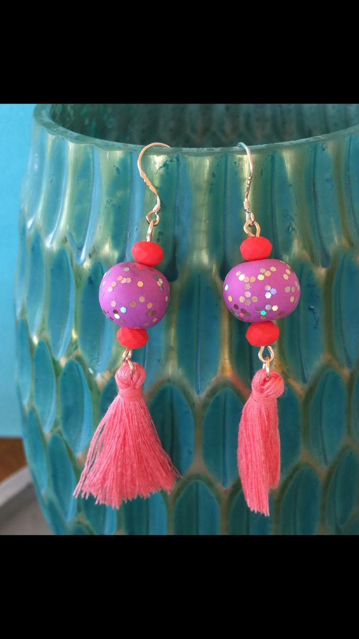 Handmade earrings. Find me on etsy! www.etsy.com/shop/iyanaandjane
