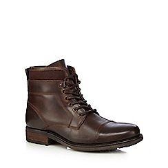 RJR.John Rocha - Dark brown leather toe cap boots