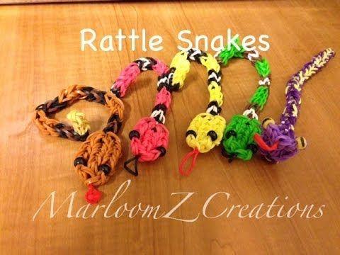 Rainbow Loom Rattle Snake Charm Gomitas Serpent - YouTube