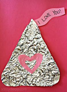 tin foil hershey kiss craft