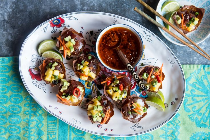 Prepare these easy and healthy Hawaiian Appetizers for your next tropical party or just as an easy and light lunch! They delicious and a crowd favorite!