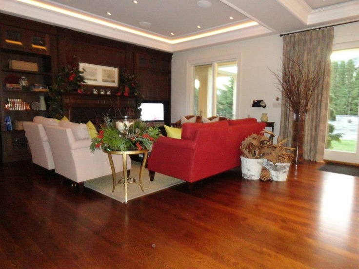 Christmas decorating for luxury living room by PCM Inc