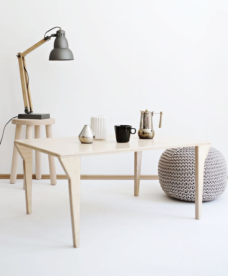 Coffee time? Right, but coffee tastes better in inspiring interior design. Meet our coffee table Equalify.1 - it tastes excellent! / Project and execution by Wood Republic / #design #interior #scandi #scandinavian #wood #wooden #plywood #solidwood #solid #furniture #modern #natural #minimalist #vintage #loft #coffee #coffeetable #table #small #room #drawingroom #livingroom #living-room