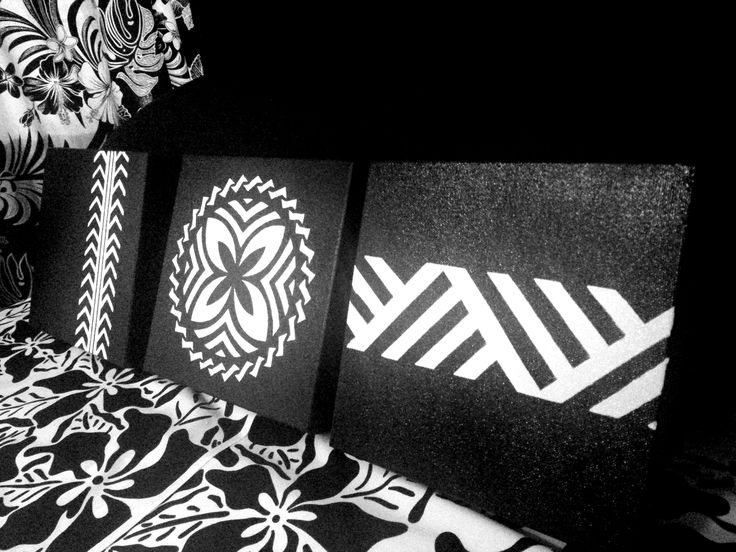 Handpainted wall hangings....Black and White In Store Now at Plantation House Samoa..