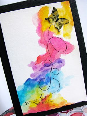 Watercolor card by Jess Witty