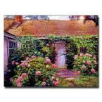 26 in. x 32 in. Hydrangea Cottage Canvas Art