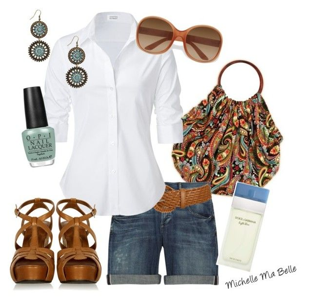 """""""Summer"""" by mgovern1 ❤ liked on Polyvore featuring HOBO, Citizens of Humanity, Wet Seal, Steffen Schraut, Ash, OPI, Prada, Forever 21 and Dolce&Gabbana"""