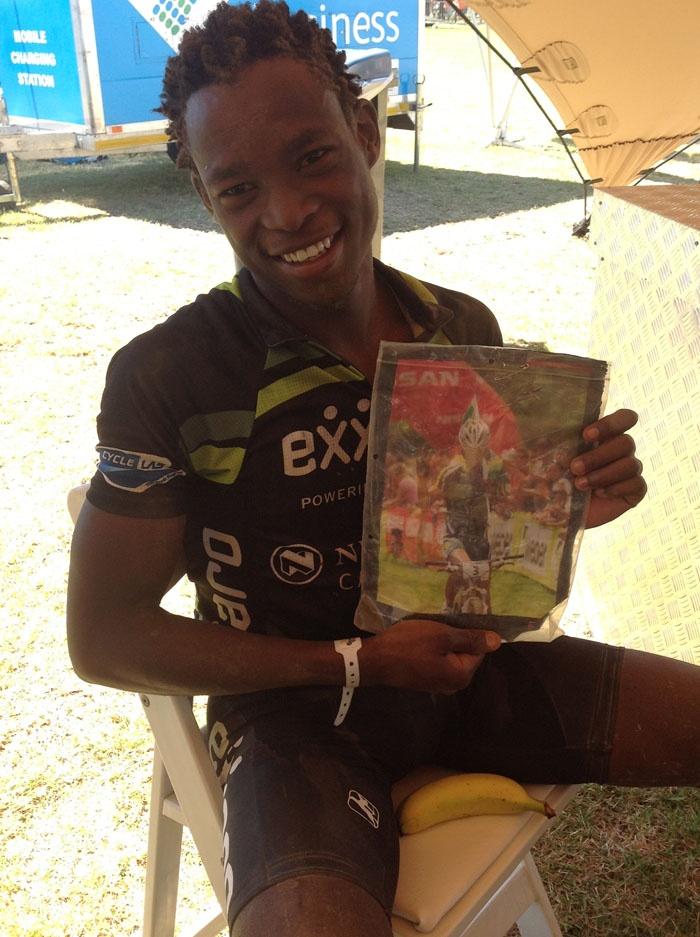 Thokhozani Mahlangu who is dedicating his Epic ride to the late Burry Stander