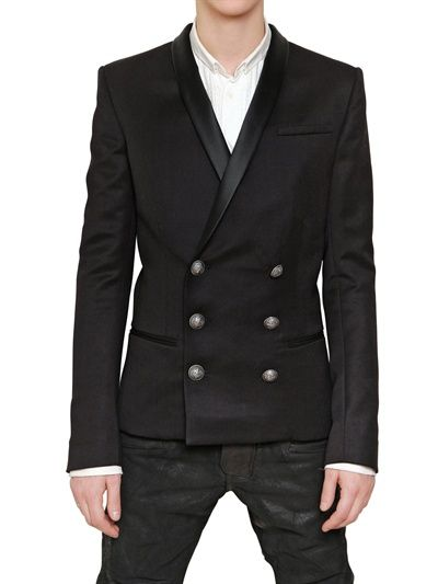 MENSWEAR Item Of The Day, Balmain Wool Gabardine Double Breasted Jacket