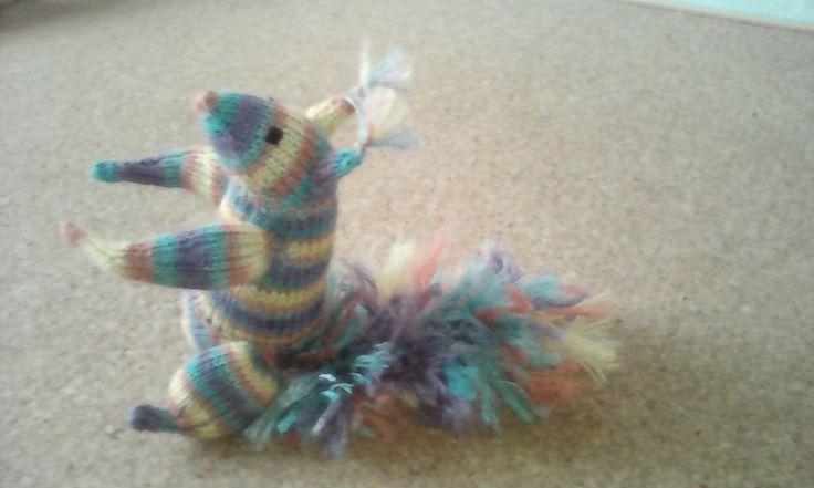 kötött mókus kézzel festett merino  gyapjúból