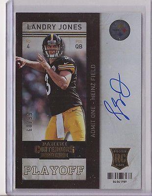 2013 Contenders Landry Jones RC Auto /99 Playoff Ticket Steelers Autograph