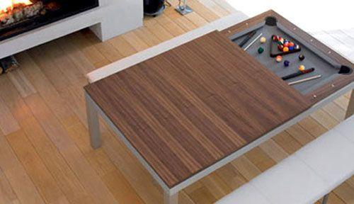 Mesa de jantar ou mesa de sinuca?