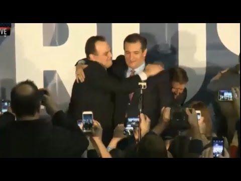 Ted Cruz Iowa Caucus Cruz Winner over Donald Trump 2/1/16 LIVE SPEECH