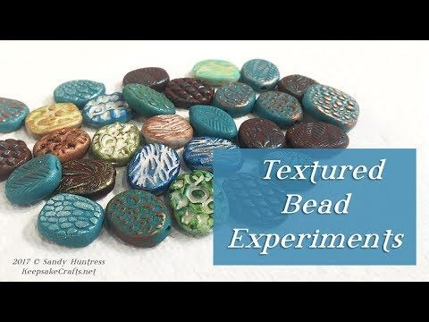 Textured Bead Tutorial and Surface Effect Experiments-Polymer Clay – YouTube Brooke Coleman-Lightner