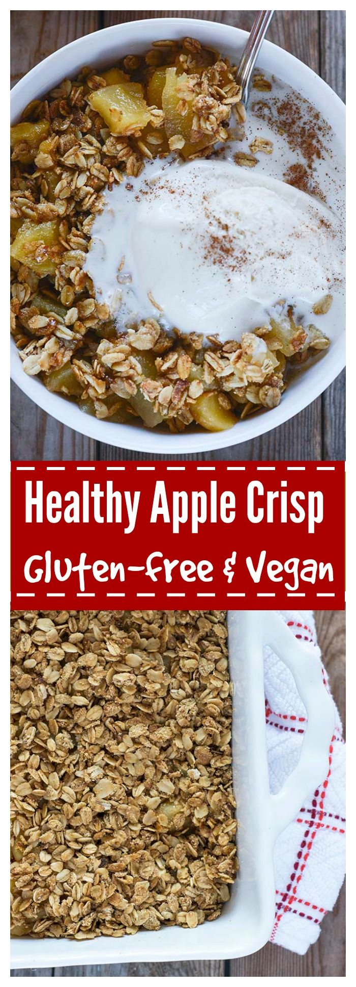 Gluten-Free and Vegan Apple Crisp. The perfect comfort dessert for Thanksgiving!