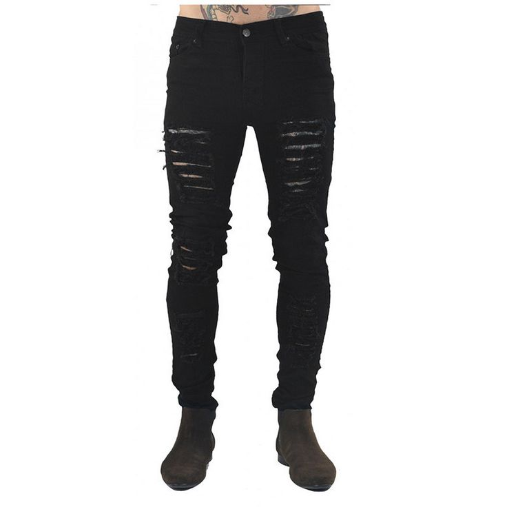 streetwear pants jeans ripped jeans for men