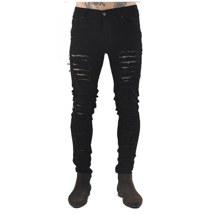 streetwear pants jeans ripped jeans for men