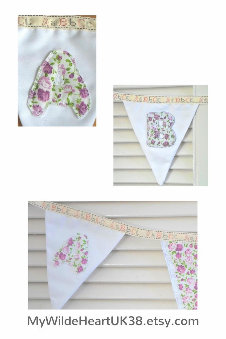 Baby girl nursery bunting, lavender and lilac, personalised on request. #babygirl #babygirlnursery #lavender #lilac #bunting #garland